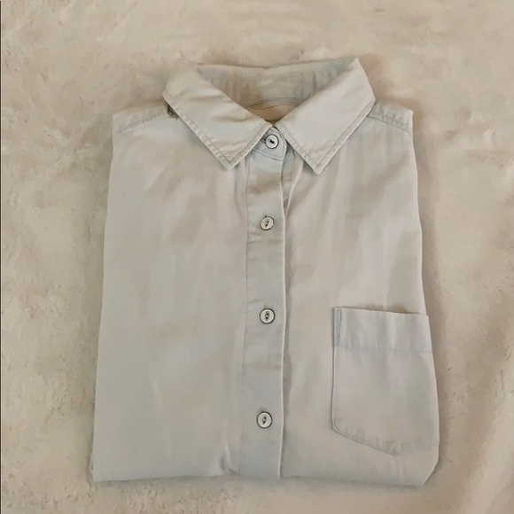 Uniqlo Tops - Uniqlo Washed Out vintage Denim Button Shirt. XS